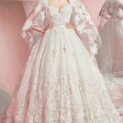 Váy cưới búp bê cúp ngực ren