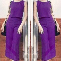 Sét quần lửng ống rộng + áo croptop-gs090
