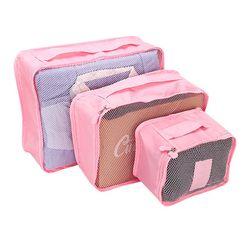 Bộ 6 túi đựng đồ du lịch cao cấp siêu tiện ích travel hồng