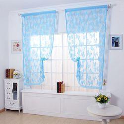 Rèm cửa hình bướm vina 1m x 2m cho nhà thêm xinh - xanh biển giá sỉ