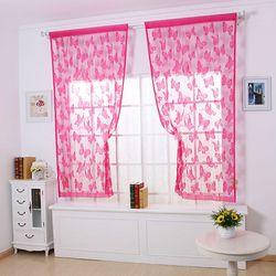 Rèm cửa hình bướm vina 1m x 2m cho nhà thêm xinh - hồng giá sỉ