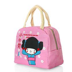 Túi giữ nhiệt xinh xắn cô gái nhật loại dày cực cute - hồng.