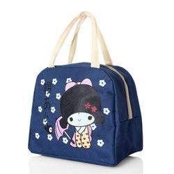 Túi giữ nhiệt xinh xắn cô gái nhật loại dày cực cute - xanh.