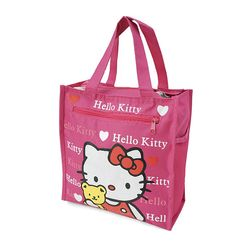 túi đựng cơm + nước uống và vật dụng 4 ngăn - kitty hồng đậm...
