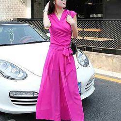 Sét áo thắt nơ + quần dài ống rộng-gt106