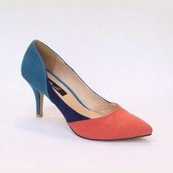 Giày cao gót phối màu- gn08li giá sỉ