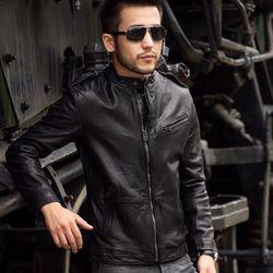 Áo khoác da lót lông nam cá tính cao cấp