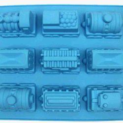 Khuôn silicone hình 9 chiếc xe khuôn siêu lớn  ms002 giá sỉ 150k/khuôn dùng để chạy nước đá đổ thạch rau câu làm bánh đổ sôcôla kẹo dẻo  kích thước khuôn 34cm x 238cm x 43cm chất liệu silicone dẻo chịu nhiệt cao độ bền cao giá sỉ