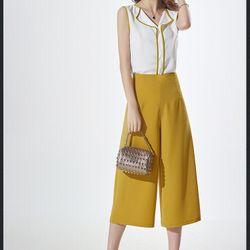 Sét áo viền + quần ống rộng-gs120