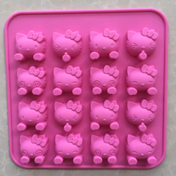 khuôn silicone 16 con kitty giá sỉ 35k /khuôn 17517518cm dùng để đổ thạch rau câu làm bánh giá sỉ