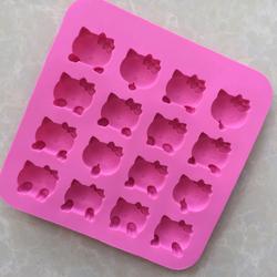 khuôn silicone 16 con kitty giá sỉ 35k /khuôn 175cm175cm18cm dùng để đổ thạch rau câu làm bánh giá sỉ