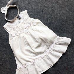 Đầm solaiboy 2 lớp bé gái kèm băng đô