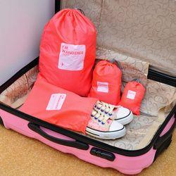 Bộ 4 túi rút du lịch chống thấm lucky pouch giá sỉ
