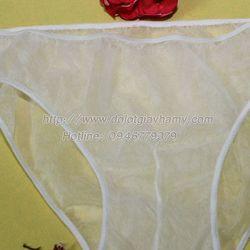 Quần lót giấy vải pp không dệt trắng trơn nam giá sỉ giá sỉ