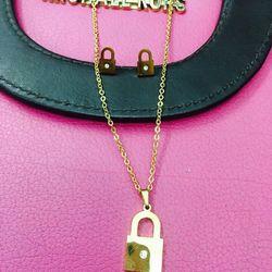 bộ trang sức xi vàng 18--giá sỉ 58k gồm 3 món bông dây mặt giá sỉ
