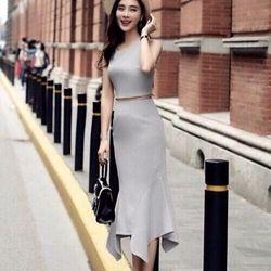 Set váy đuôi cá + áo croptop