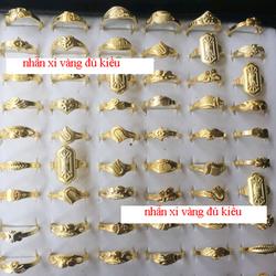 Nhẫn xi vàng giá sỉ 35k/10 chiếc lấy ngẫu nhiên ko lựa kiểutổng đơn hàng 500k sỉ giá sỉ