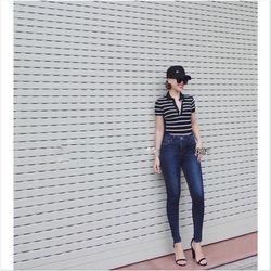 Quần dài jean nữ hai da