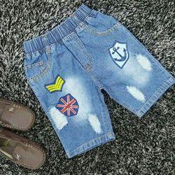 Short jean bé trai hình thêu bao đẹp hàng có sẵn