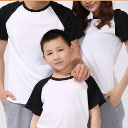 Áo thun trắng tay đen giá sỉ