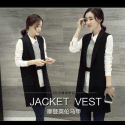 xưởng may - chuyên sỉ a3713 áo khoác vest - giá sỉ 112k -sỉ 5 cái/mẫu lấy từ 2 mẫu gái 102k - chất vải tuyết mưa giá sỉ