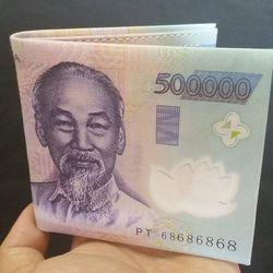 Bóp da in hình đô la,200k,500k