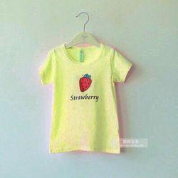 áo bé gái thun cotton 100 in trái cây nhỏ xinh