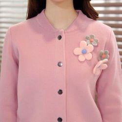 Áo khoác len cách điệu phối hoa ngọt ngào giá sỉ