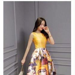 Đầm xoè chân dung cô gái