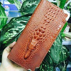 Bóp cầm tay cá sấu tgs60090 sang trọng 2 dây kéo, ngăn đựng rộng có thể đựng điện thoại luôn ạh giá sỉ