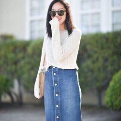 Váy jeans dài