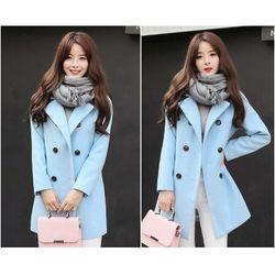 Áo khoác dạ nữ cổ vest 8 nút