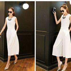 Db30: bộ sét áo và quần culottes màu trắng
