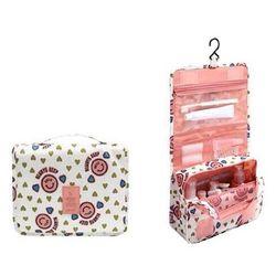 Túi mỹ phẩm du lich mặt cừoi hồng