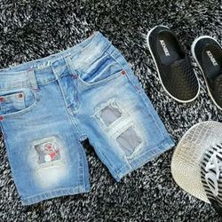 Hàng có sẵn quần jean short bé trai chất jean dày mềm co dãn mạnh hàng bao đẹp từ chất liệu đến form dáng size cho bé từ 12 - 22kg ri 5 giá 85000 giá sỉ