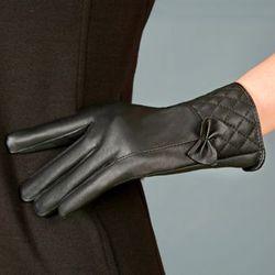 găng tay nữ cảm ứng da nữ mẫu hàn quôca