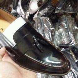 Giày lười da bò nam
