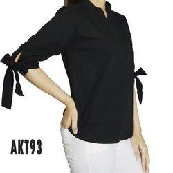 Akt93 áo kiểu nữ tay lỡ cột nơ 3 màu