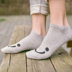 lốc 10 đôi Tất gót nữ cotton hình mặt cười