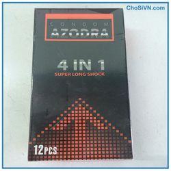 Bán sỉ bao cao su kéo dài thời gian azodra 4 in 1