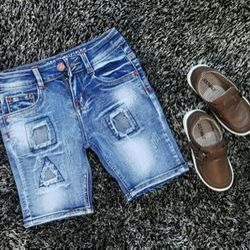 Quần jean short bé trai chất jean dày mềm co dãn mạnh hàng bao đẹp từ chất liệu đến form dáng size cho bé từ 12 - 22kg ri 5 giá 87000