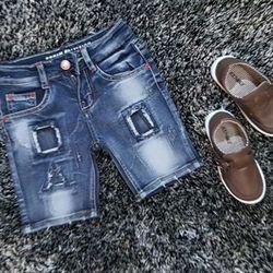 Quần jean short bé trai chất jean dày mềm co dãn mạnh hàng bao đẹp từ chất liệu đến form dáng size cho bé từ 12 - 22kg ri 5 giá 87000 giá sỉ