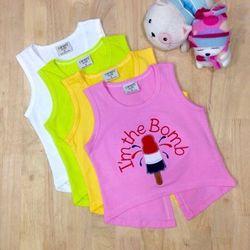 áo thun bé gái im the bomb