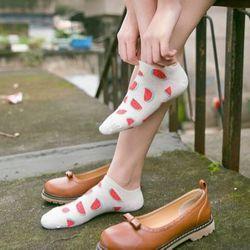 Bộ 10 đôi tất nữ gót cotton trái cây