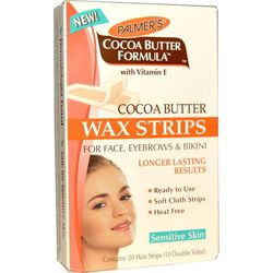Miếng dán tẩy lông palmers cocoa butter wax strips for eyebrows bikini