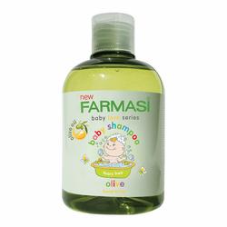 Gel tắm gội cho bé chiết ô-liu farmasi baby shampoo olive giá sỉ