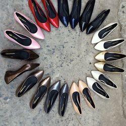 T2911-giày bít gót bọc liền