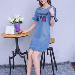 Đầm jean suông nữ mochino