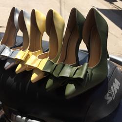 Giày cao gót eo nơ 3 tầng