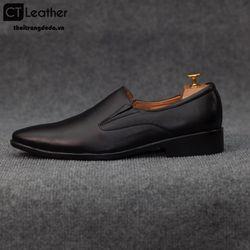 Giày lười nam công sở màu đen 1529d